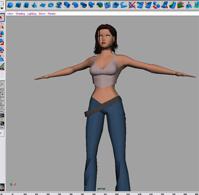 how to make a character walk in maya